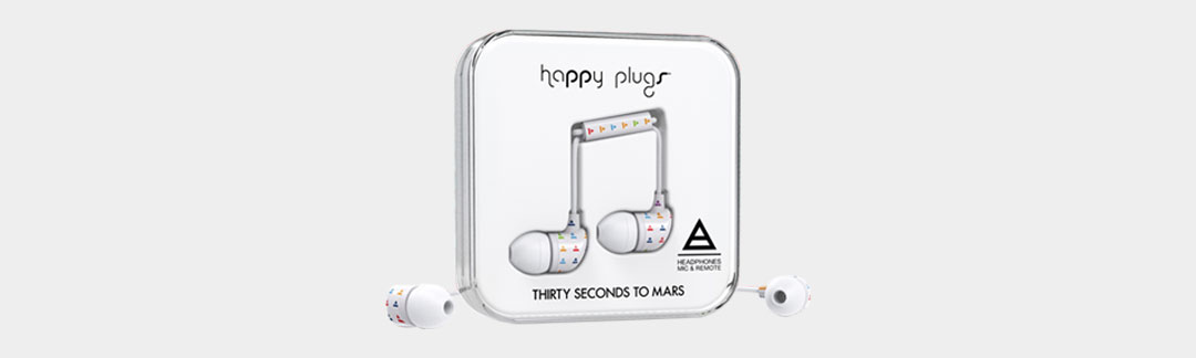 Happy Plugs představuje sluchátka TRIAD kapely Thirty Seconds To Mars